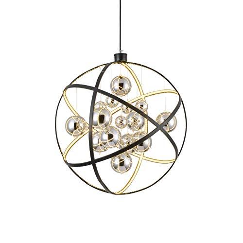 LCLZ Creativo Planet Semplice Moderna Lampada LED Moda Chrome di Vetro del Pendente della Sfera Lampada da Soffitto Luce Calda della della Casa Ristorante Living Room 50 * 50 * 50cm Pranzo