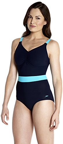 Speedo Damen Badeanzug Speedosculpture Crystalshine 1 Piece, Navy/Scuba, 38, 8-092036087