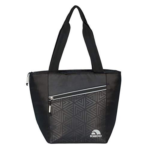 Elegant black lunch box insulated Igloo Cooler Tote Bag