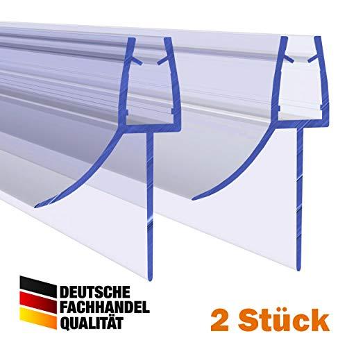 VON ADELBERG Duschdichtung Wasserabweiser Gerade PVC Ersatzdichtung für Dusche Typ: VA006-19-9 2 Stück - Länge: 40 bis 200 cm - Glasstärke: 6, 8 mm, Dichtung Länge:70 cm, Glasstärke:8 mm
