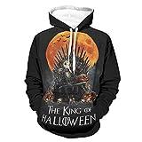 OwlOwlfan Jack The King of Halloween Suéter cómodo para la piel con bolsillo canguro bifurcado para Wokers Sporters para gimnasio, deporte, color blanco