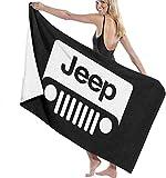 Ewtretr Toalla de Playa Character Jeep Beach Towels Ultra Absorbent Microfiber Bath Towel Picnic Mat for Men Women Kids