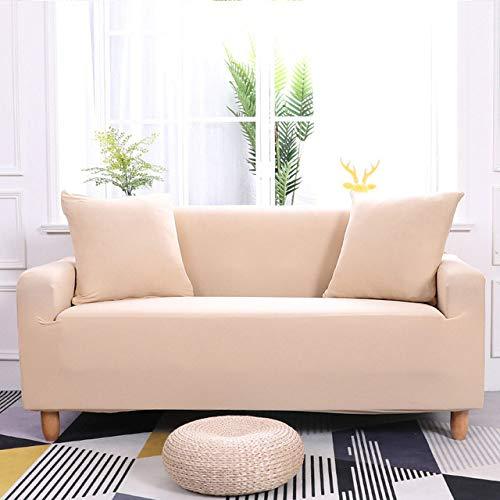 KTUCN Fundas para sofá, Funda elástica para sofá para Sala de Estar, Funda para Muebles elástica, Funda Universal para sofá, Funda para sofá, 1/2/3/4 plazas, Beige, 4 Seater 235-300cm