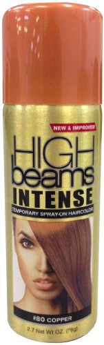 High Beams Intense Temporary Spray On Hair Color - #80 Copper 2.7 oz. (Pack of 2)