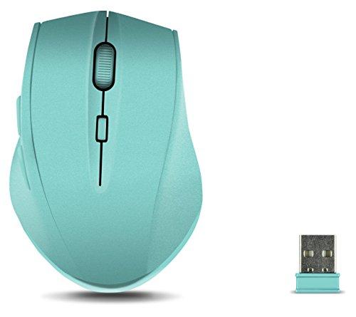 Speedlink CALADO Silent Mouse - Leise Maus ohne Klick, Lautlos, Geräuschlos, Stumm, Ergonomisch, Kabellos, Drahtlos, Funk, Wireless (optischer Sensor, 1.600dpi, Nano USB, 5 Tasten, DPI Switch) türkis
