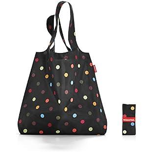 Mini Maxi Shopper Travel Duffle, Black (Puntini)