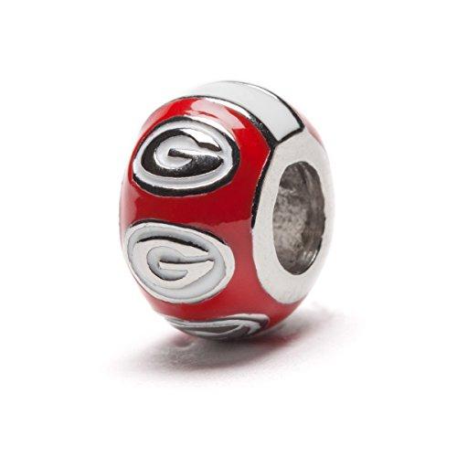 georgia bulldog charm bead - 3