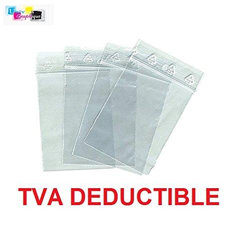 professionnel comparateur Un lot de 1000 sacs de 60 x 80 mm avec une fermeture éclair transparente.  50 poches zippées sac PE… choix