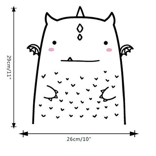 Animal lindo diy etiqueta de la pared de dibujos animados para sala de niños sala de estar decoración para el hogar cartel de arte decoración para niños tatuajes de pared 26x29 cm