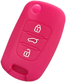 Hot pink Protective Key Cover Remote Fob Skin Silicone Key Jacket Cover KEY Case Holder BAG