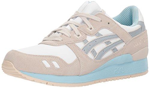 ASICS Zapatillas GEL-Lyte III para hombre, blanco (blanco/gris claro), 38 EU