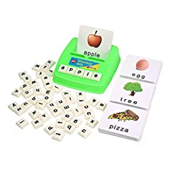 For English Language Beginners - Including letter recognition, spelling,word building, and early vocabulary.By putting the cubes together to form a word, the kid gains an important understanding of the mechanics of vocabulary,aided by the picture car...