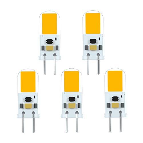 Ymm 4W LED Glühbirne G6.35 Sockel DC 12V, Ersetzen 40W Halogenlampe, Warmweiß 3000K,350LM,360°Abstrahlwinkel, Nicht Dimmbar (5er-Pack)