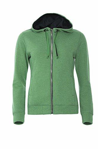 Smartsupershop Felpa con Zip E Cappuccio Donna Colore Verde Taglia XL