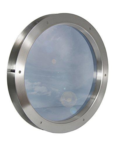 Edelstahl Bullauge TBAK-450 BS Klarglas beidseitig verschraubt Türfenster