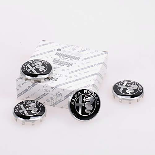 mächtig der welt Original Alfa Romeo Hubcap Alfa Romeo Logo und ein Satz von vier schwarz-weißen Alfa Romeo Giulia,…
