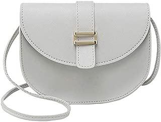 TOOGOO Female Bag Semi-Circle Arch Tongue Single Shoulder Mobile Phone Small Bag Pink