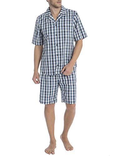 Seidensticker Canyonlands Kurz-Pyjama, durchgeknöpft Herren