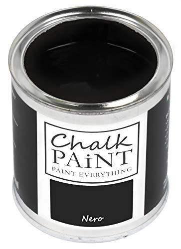 Everything CHALK PAINT Nero 250 ml - SENZA CARTEGGIARE Colora Facilmente Tutti i Materiali
