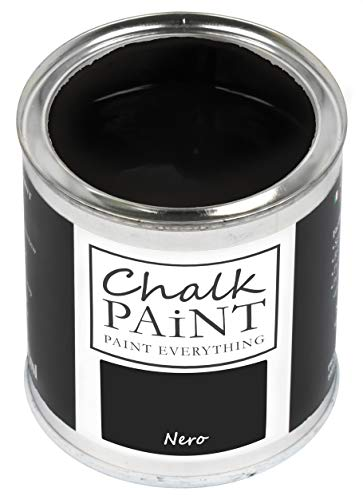 Everything CHALK PAINT Nero 250 ml - SENZA CARTEGGIARE Colora Facilmente Tutti i Materiali