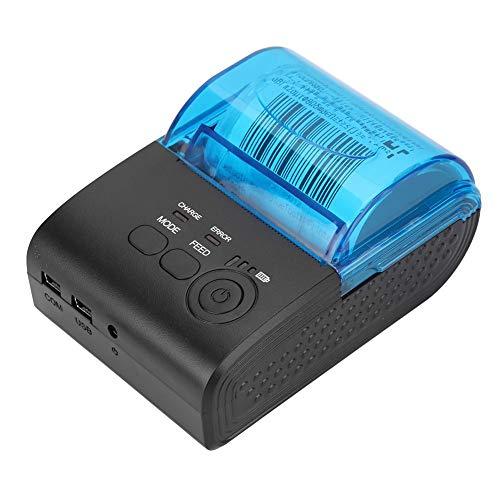 Bluetooth thermische printer Draagbare mini thermische bonprinter met automatische slaap / wekfunctie, oplaadbare thermische labelprinter met batterij voor Android-systeem, 110-240 V (EU-stekker)