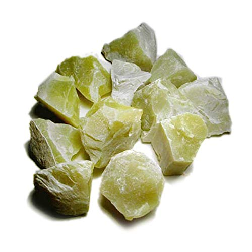 Reiki Crystal Products Natural Lemon Quartz Rough Stones - Raw Stone For Reiki Healing And Vastu Correction Protection Concentration Spirituality And Increasing Creativity -Approx: 100Gm