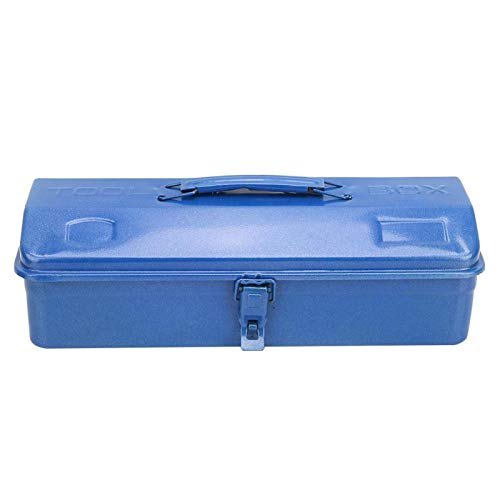 Caja de herramientas de hierro - Caja de herramientas de hierro multifunción engrosada Caja de herramientas de reparación Caja de almacenamiento Soporte para contenedores(37 * 16 * 11(350))