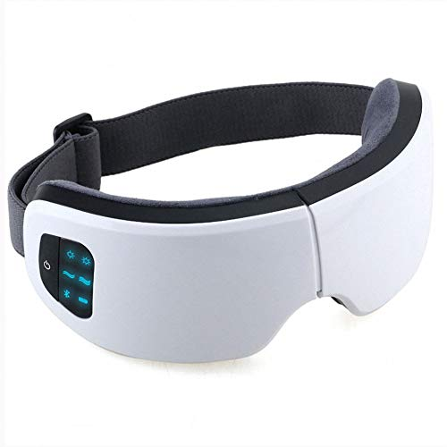 YUANTUO Electric eye massager Eye massager with air pressure hot compress Bluetooth music Far infrared electric eye massager can relieve dry eye