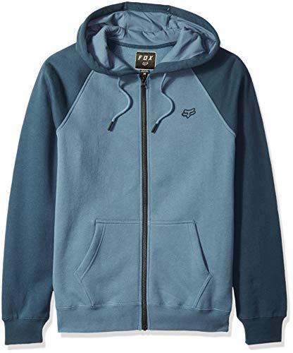Fox Herren Legacy Zip Fleece Kapuzenpulli, Blue Steel, Medium