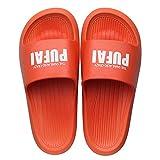 Nwarmsouth Zapatillas de Estilo para el hogar,Zapatillas de baño Antideslizantes, cómodas Sandalias de Masaje-Orange_41-42,Piscina para Hombre Baño Sandalias