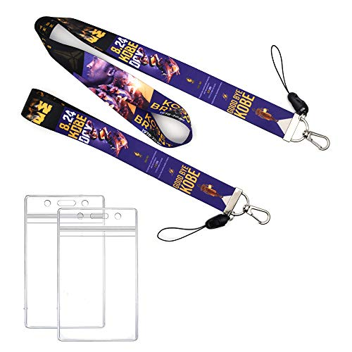 GTOTd Basketball Superstar Kobe Lanyard with ID Badge Holder (2 Pack),Merchandise Basketball party supplies star Kobe Gifts For Teens Fans