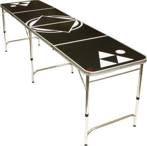 8' Beer Pong Table - Lightweight & Portable with Carrying Handles by...