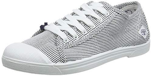 Le Temps des Cerises Basic 02, Sneaker Donna, Blu (Strip Shinny Strip Shinny), 39 EU