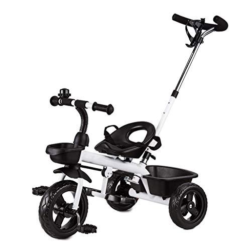 GST Triciclos Triciclo para niños Durante 18 Meses a 5 años de Edad, Bicicleta Ligera 3 Ruedas para niños pequeños viajan en triunas de Pedal con Mango de Empuje Desmontable (Color : B)