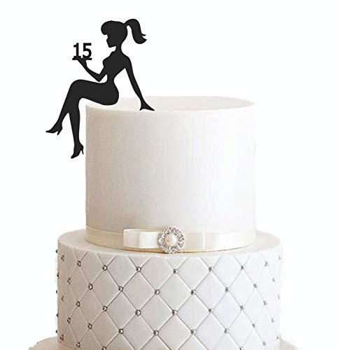 Girl, birthday, Tortenfigur, Cake Topper, Mädchengeburtstag, sweet 16, sweet 18, Zahl, TopperZahl, Geburtstag, Geburtstagsdeko, Dekoration