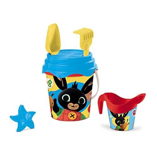 Mondo Toys Bing Bucket Set, Set Mare Renew Toys con Secchiello, Paletta, Rastrello, Setaccio, Formina, Annaffiatoio Inclusi, 28555