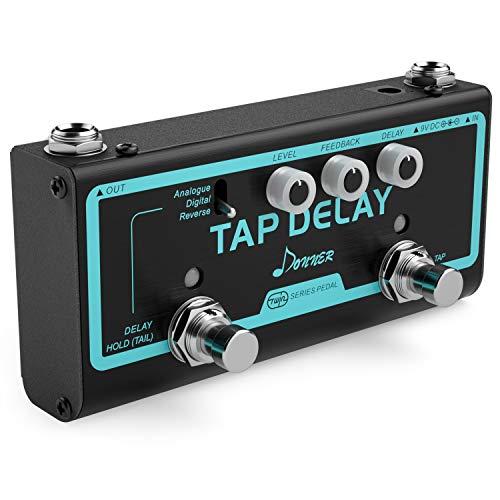 Donner Tap Delay Gitarre Effektpedal mit 3 Delay Effekten True Bypass