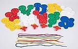 edx education 53371 Botones gigantes con cordones, 54 unidades