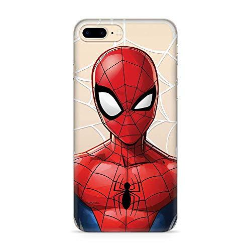 Estuche para iPhone 7 Plus/8 Plus Marvel Spider Man Original con Licencia Oficial, Carcasa, Funda, Estuche de Material sintético TPU-Silicona, Protege de Golpes y rayones