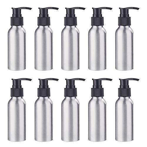 BENECREAT 10 Pack 100ml Botella de Aluminio Contenedor de Presión con de Negra Bomba Espumante para Jabón de Manos Limpiador Facial Crema