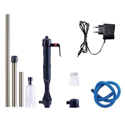 Aspiradora Eléctrica para Acuario, Ajustable Longitud Limpiador de Acuario con 3 Modos de Limpieza para Acuarios