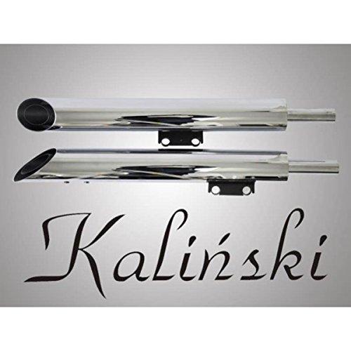KALINSKI Auspuff Schalldämpfer Edelstahl Abgasanlage Kawasaki Vulcan 900 / VN 900 06-