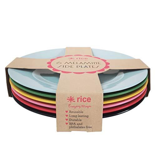 RICE - Juego de platos - 6 piezas - Favorite Colors - monocolor - Ø cm - de melamina