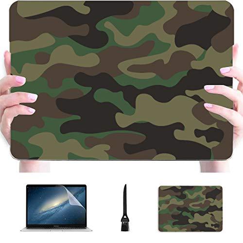 Macbook 15 Cover Camouflage protettivo militare stile freddo Plastica rigida compatibile Mac Air 13'Pro 13' / 16'Macbook 2017 Custodia Custodia protettiva per Macbook Versione 2016-2020