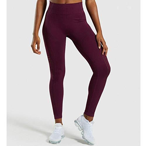 Yogabroek Workout Leggings,Naadloze yoga broek met hoge taille, hardloop fitnessbroek voor dames-Fuchsia_M, Baggy Jumper Casual tops Blouse T-shirt