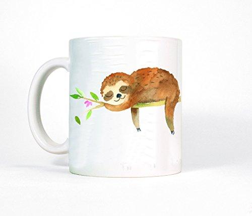 Tasse Becher Kaffeetasse Faultier schlafend