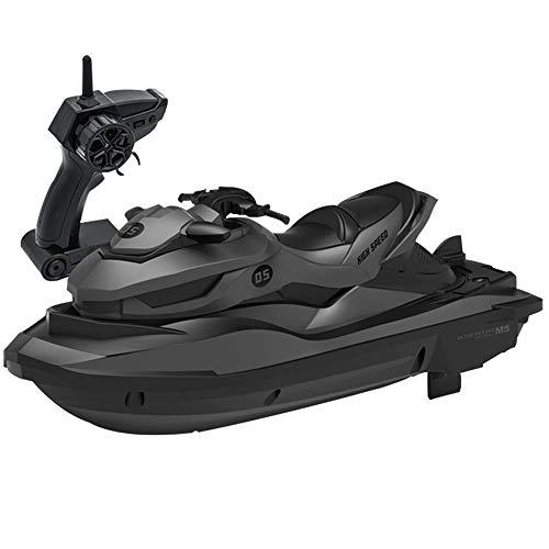 OUUED R / C Boot-Modell Simulationsmodell Wasser Spielzeug Schiff 4 Kanäle 2,4 GHz High Speed Racing Ruder Jet-Ski nachladbare Anti-Kollisions-Spielzeug Schnellboote for 12 Jahre alten Jungen Mädche