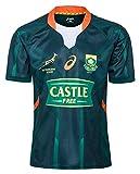 XinYunLD 2020 Afrique du Sud Springbok 7S Rugby Maillots de Rugby, T-Shirt Graphique en Jersey de Coton de la Coupe du Monde, Home et Away Concours Entraînement Jersey de Football, Cadeau pour Un ami