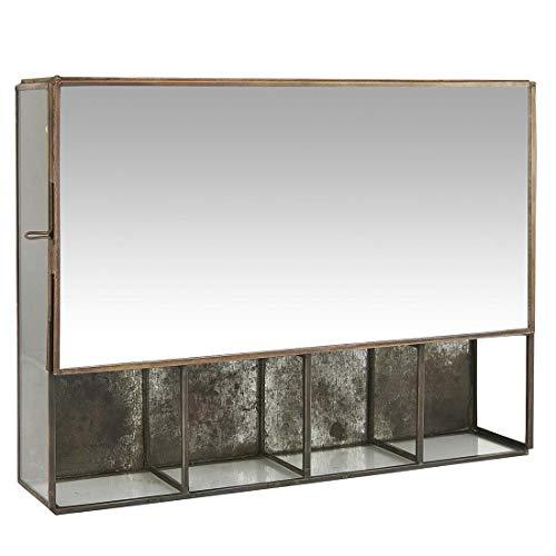 Ib Laursen Hängeschrank mit 5 Zimmern und Spiegeltür