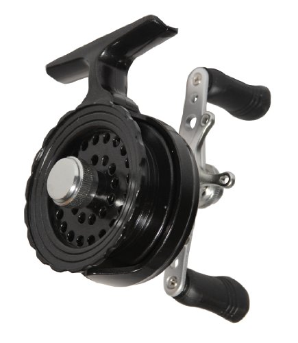 Eagle Claw In Line Ice Fishing Reel, Black